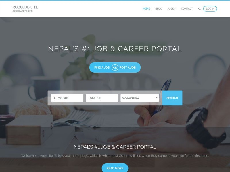 18 Robojob Lite WordPress theme