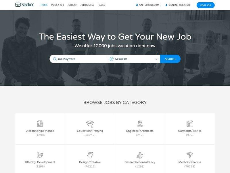18 Seeker Job Board HTML
