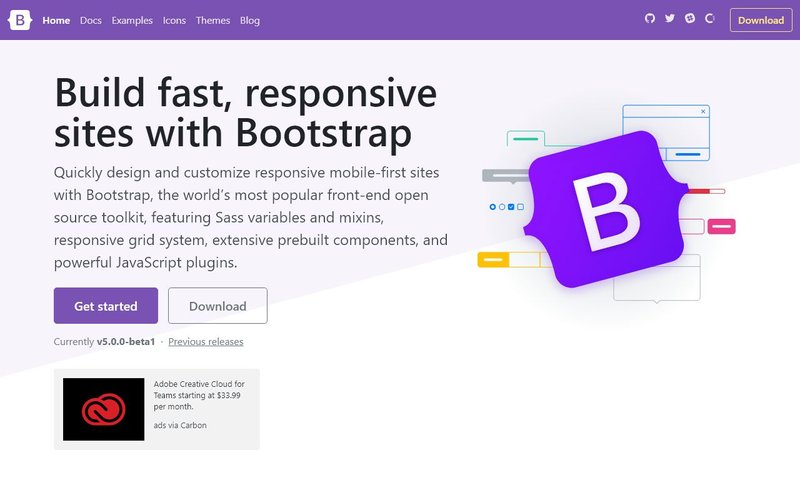 Bootstrap The most popular
