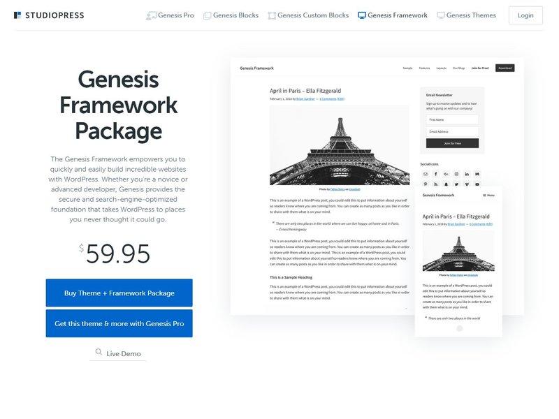 Genesis Framework by StudioPressStudioPressStudioPress