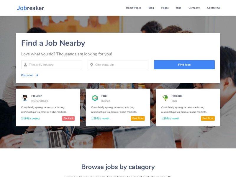 1 Modern Job Board Listing