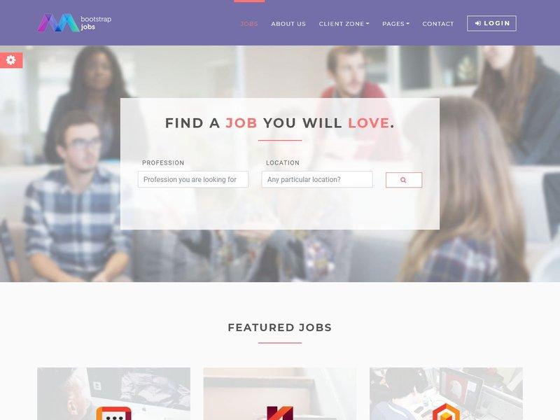 21 Bootstrap Jobs Job Board