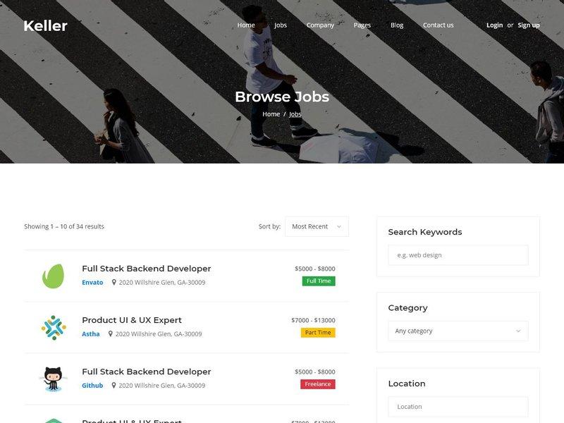 24 Keller Job Board HTML