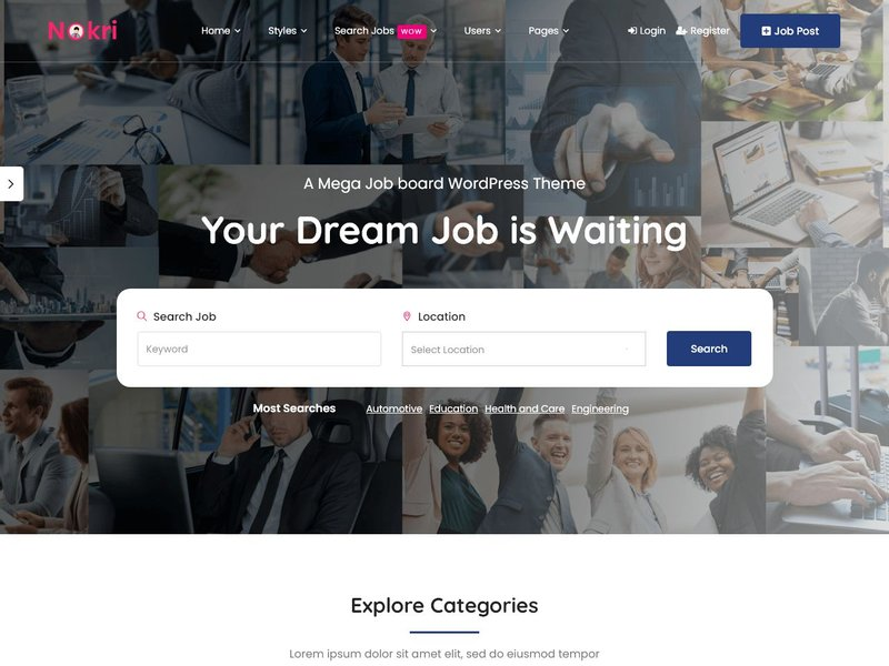 7 Nokri Job Board WordPress