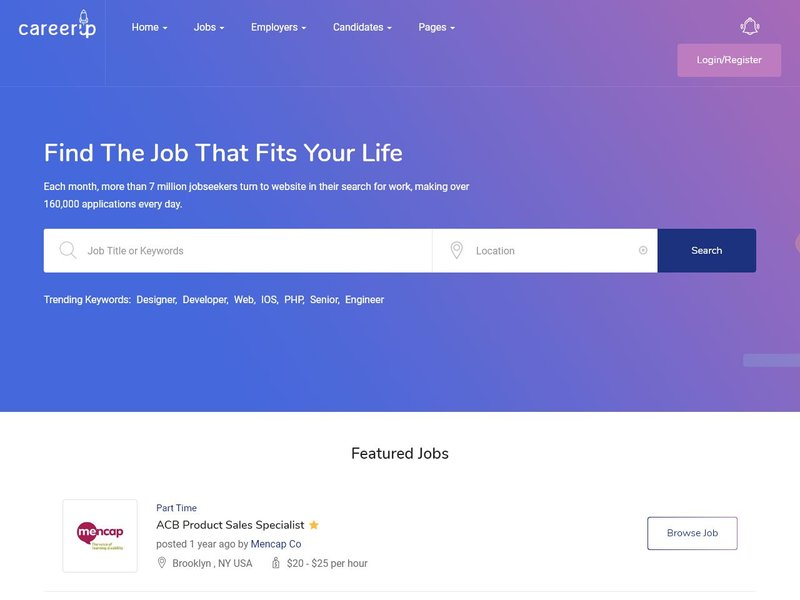 9 CareerUp Job Board WordPress
