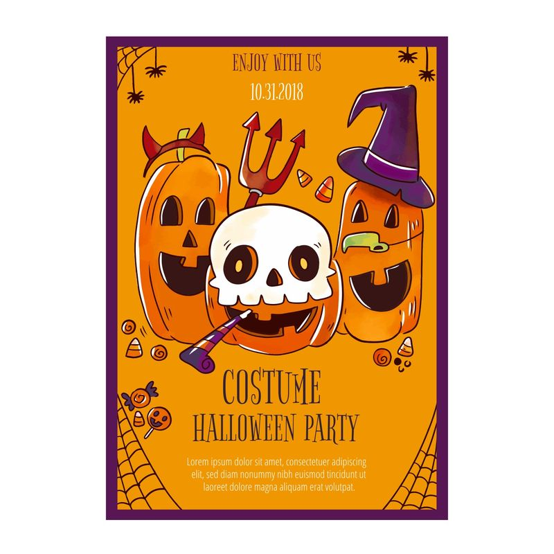 Cute Halloween Flyer with