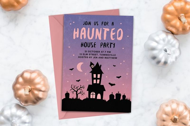 Halloween Invitation Haunted House