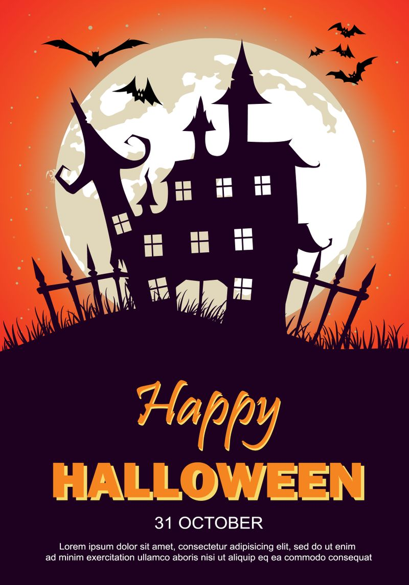 Halloween Poster haunted house