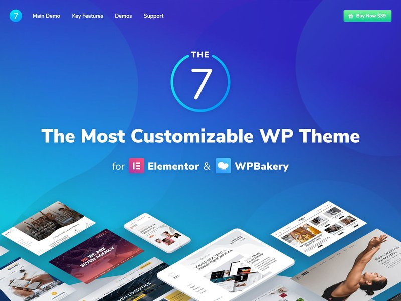 The7 Multi Purpose Website