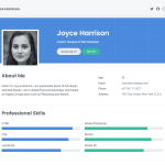 Free Resume Website Template for Job Seekers built with Bootstrap
