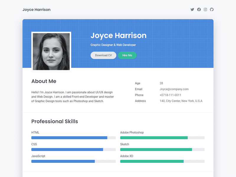 Html based resume where to put the thesis in the conclusion