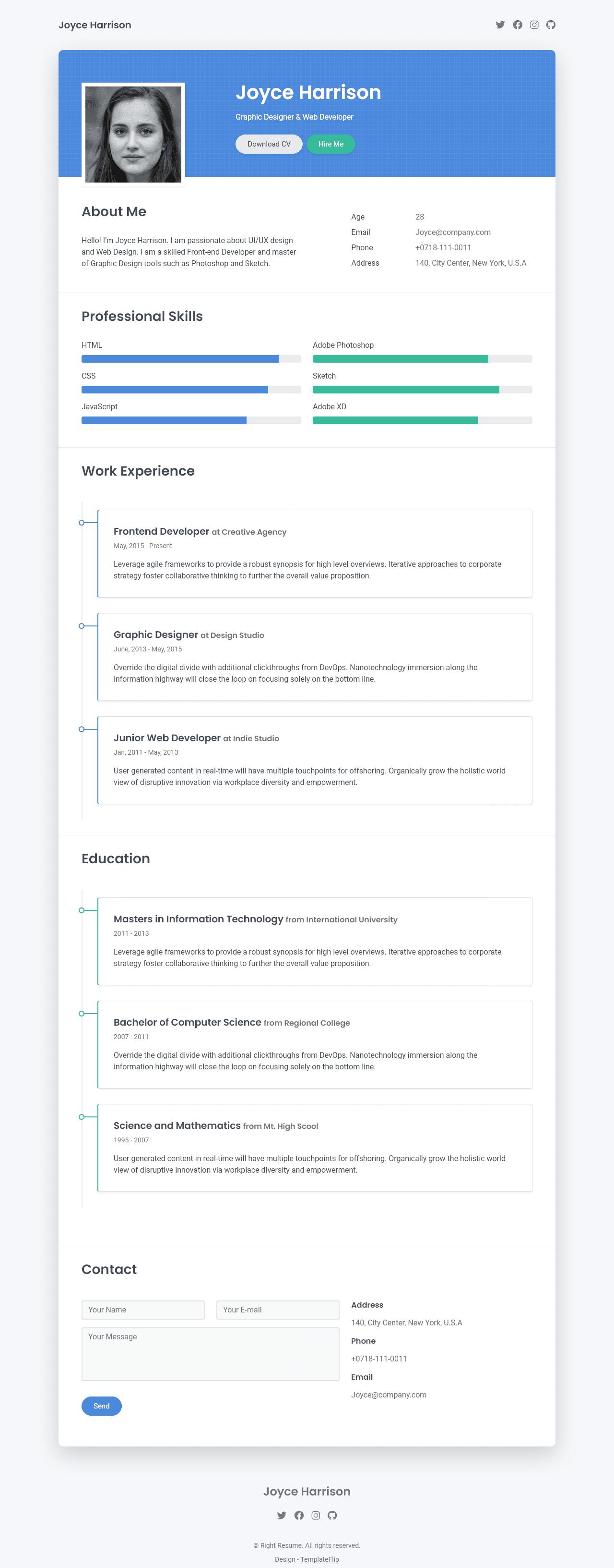 right resume full