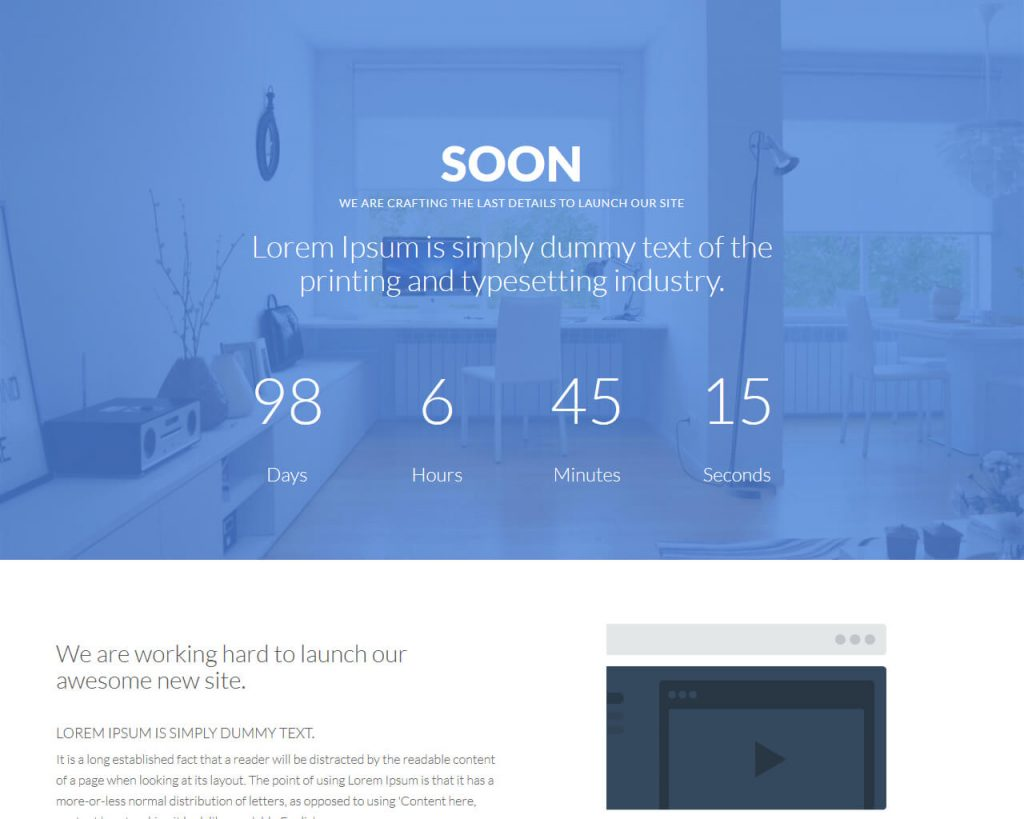 soon bootstrap under construction template