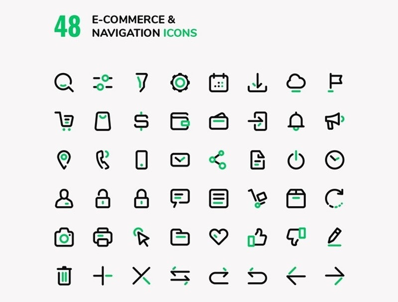 E commerce Navigation Vector icons