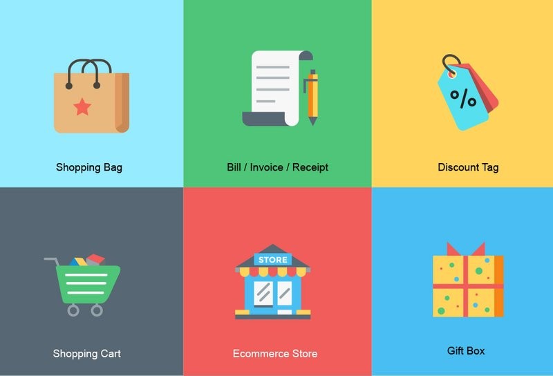 Ecommerce Icon Set ai svg