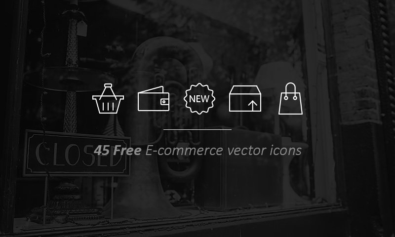 Freebie Outline Ecommerce icons