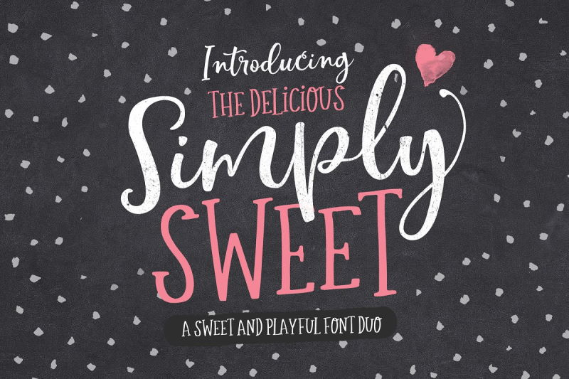 simply sweet valentine font duo