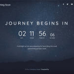Free Launch Page with Countdown Timer and Video Background