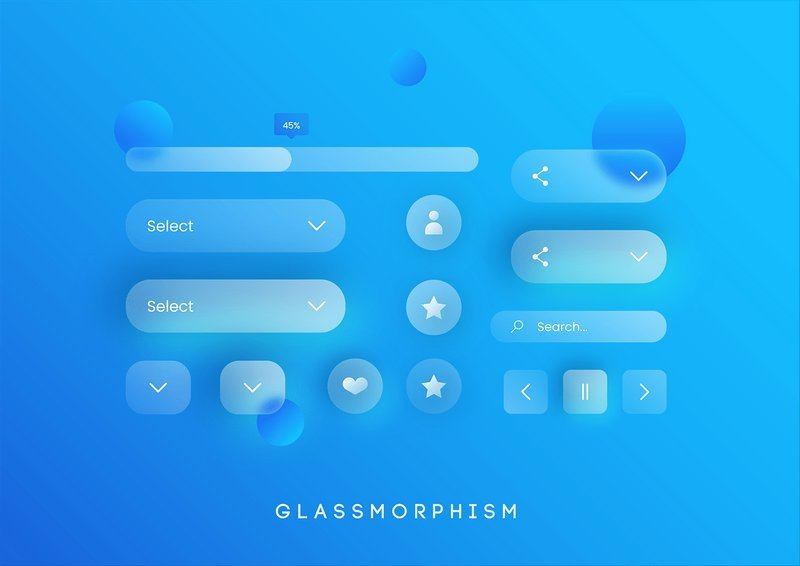 Kit UI glassmorphism