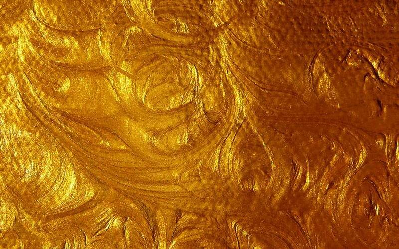 Acrylic Gold Paint Swirl