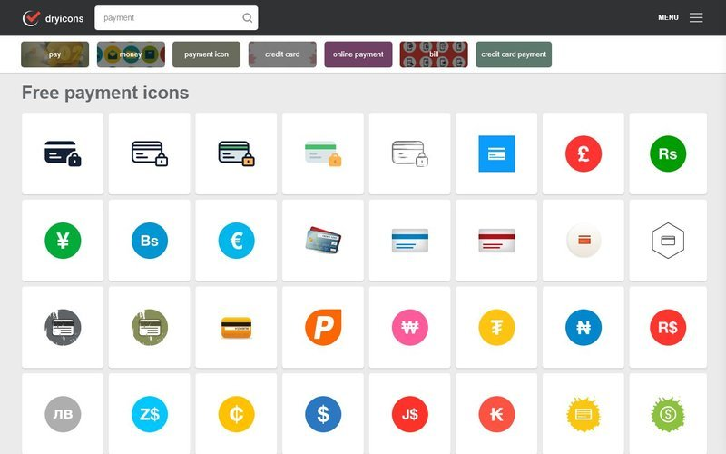 Dryicons Payment free svg