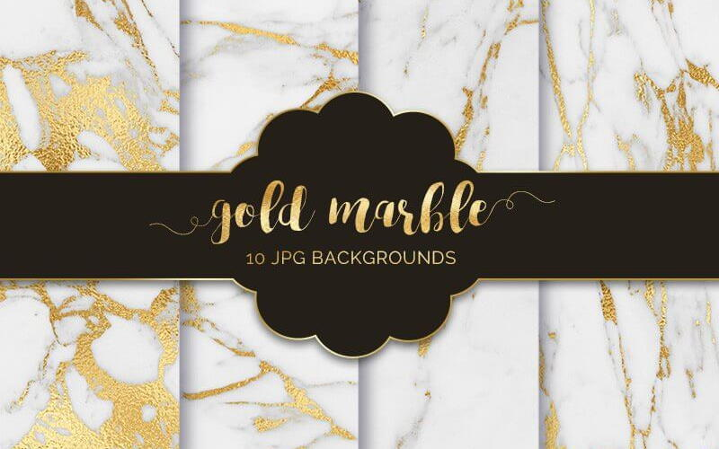 Gold Marble Texture Backgrounds
