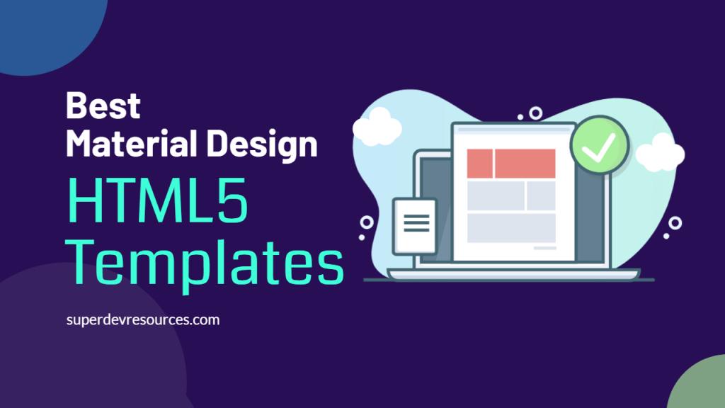 Material Design HTML Templates