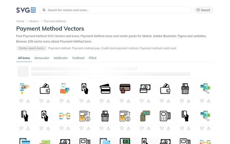 Payment Method Icons SVGrepo