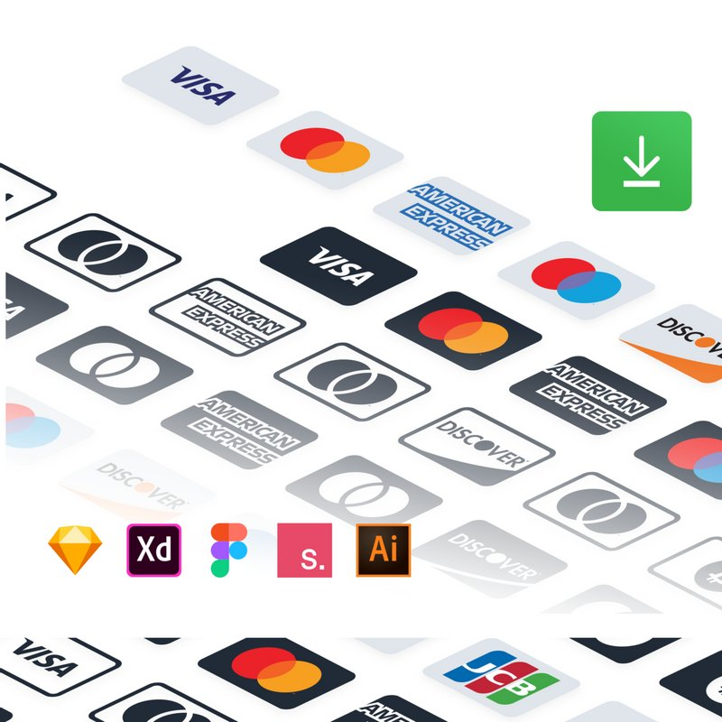 Payment Methods Free icons ai sketch