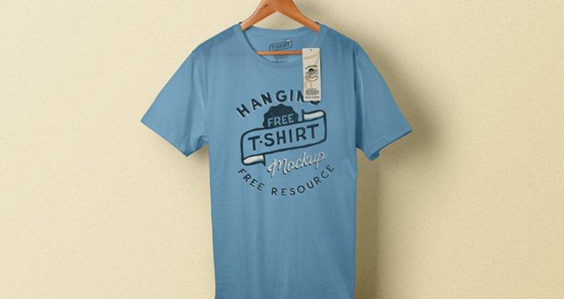 Psd hanging T shirt tag