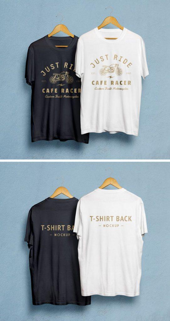 T Shirt front back MockUp PSD