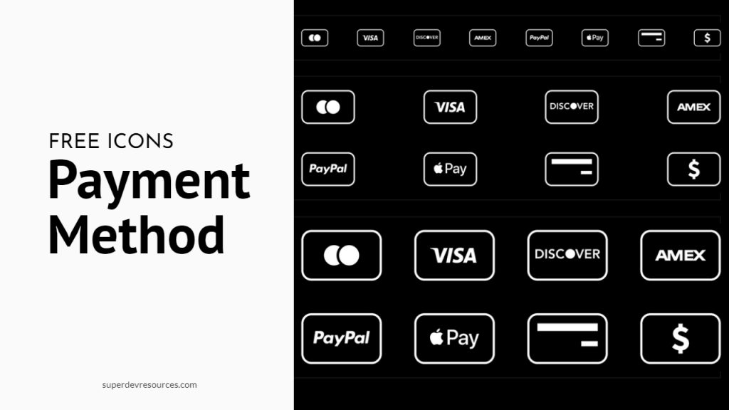 free payment method icons svg
