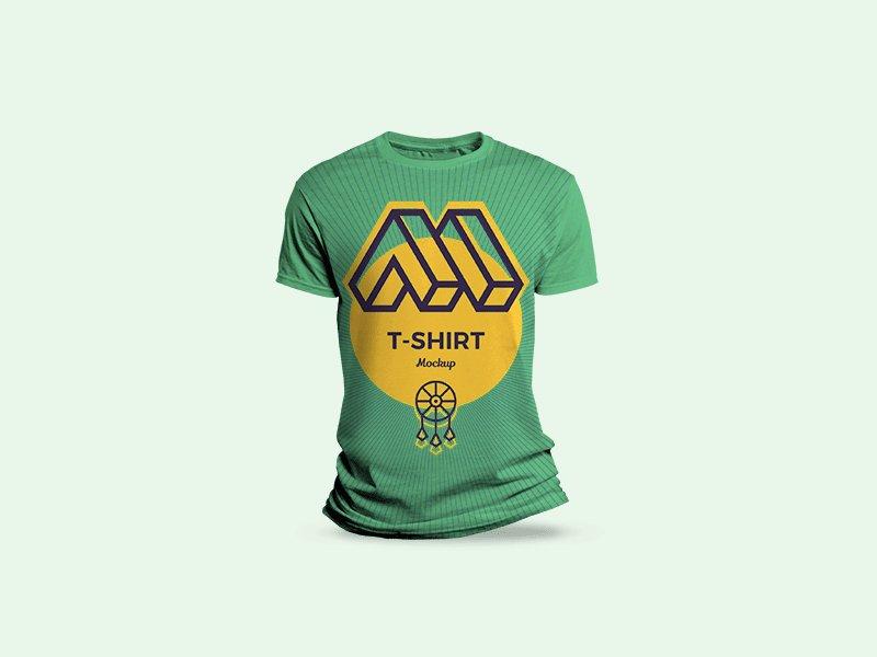 free round neck T Shirt Mockup