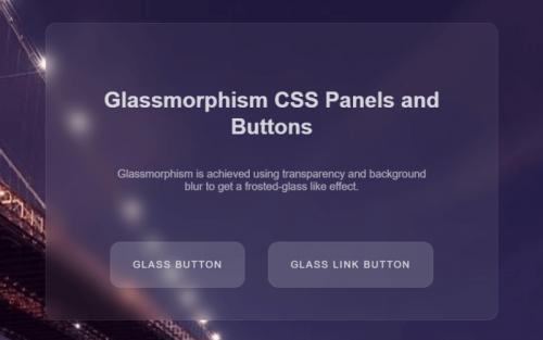 glassmorphism ui css