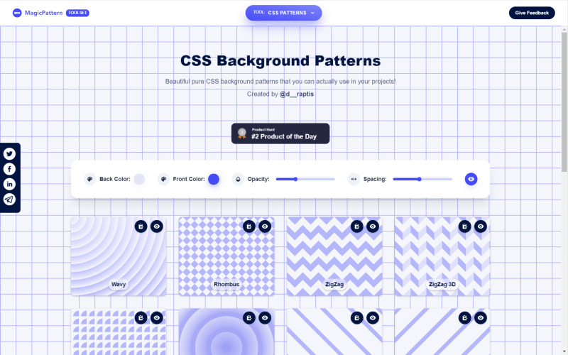 magic patterns css