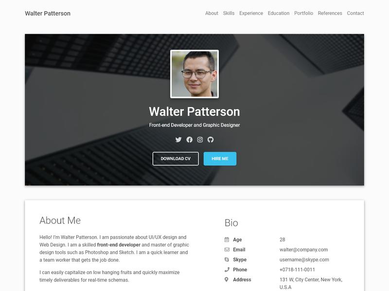 material resume screenshot