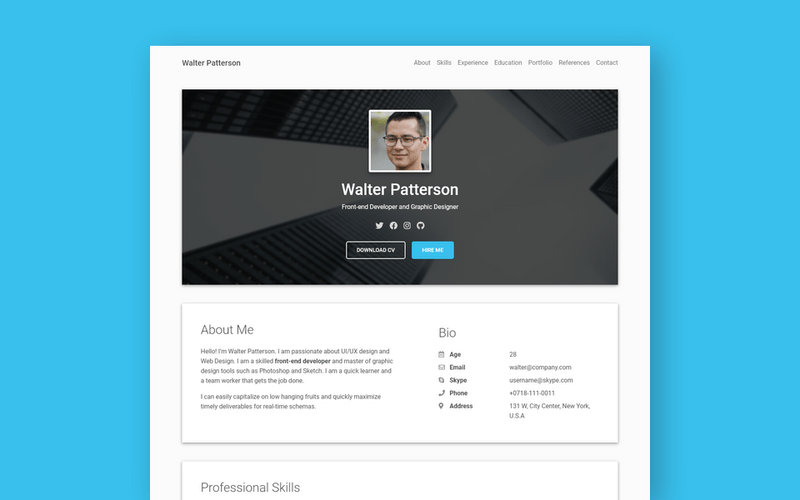 material resume featured