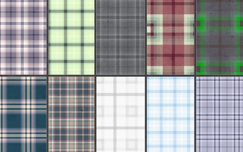 seamless tartan fabric patterns