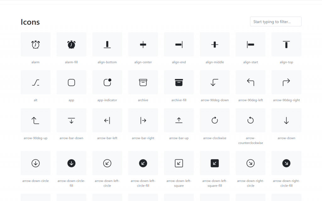 Bootstra icons