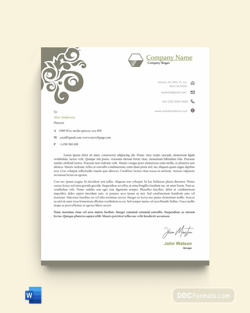 21 Best Business Letterhead Templates (Word, AI) - Free & Premium Throughout Word Stationery Template Free