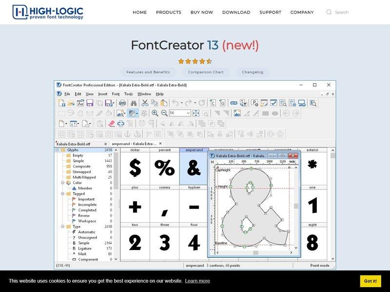 FontCreator Font Editor for Windows