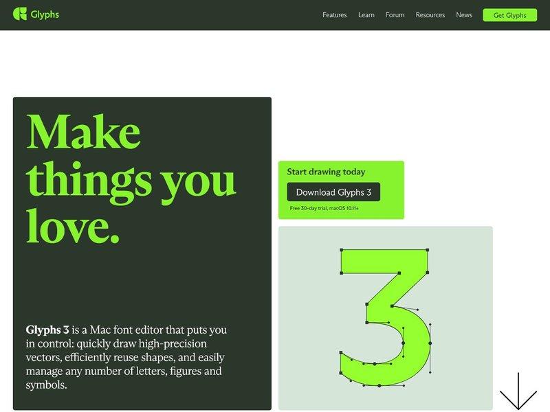Glyphs Mac Font Editor