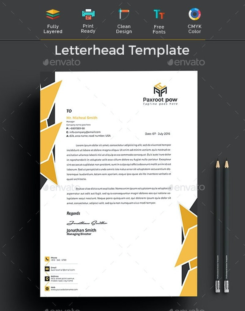 21 Best Business Letterhead Templates (Word, AI) - Free & Premium Inside Header Templates For Word