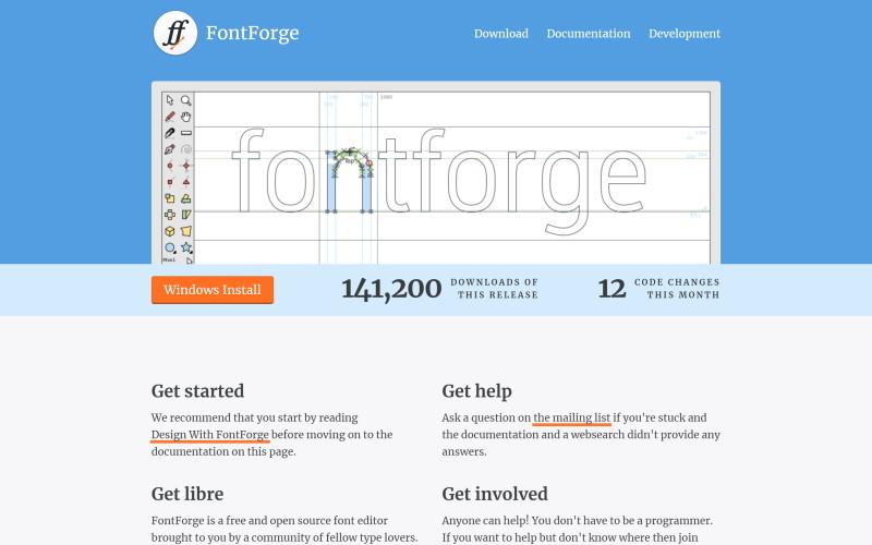 fontforge free font editor