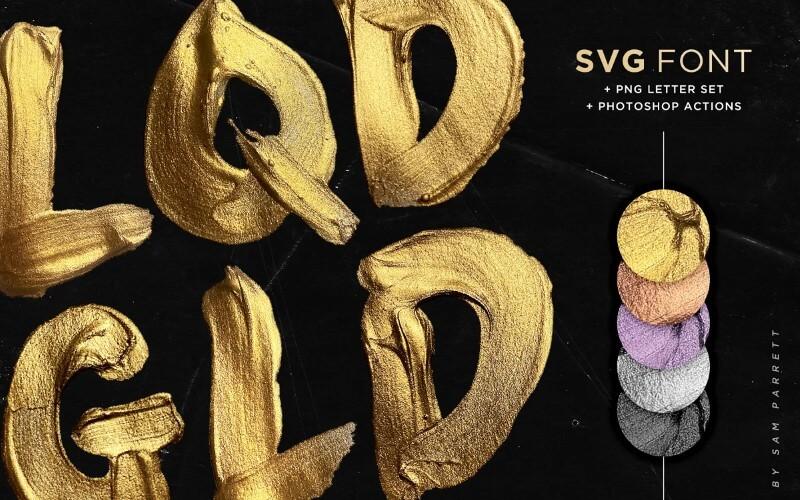 liquid gold svg font
